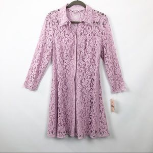 Nanette Lepore Lace Dress Spring Bloom Sugar Plum